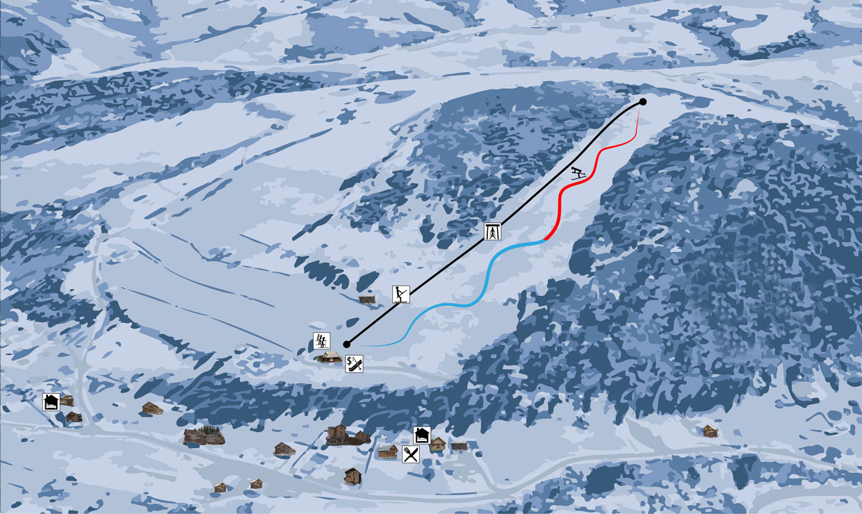 Гірськолижний витяг на горі Запідки - Ільці