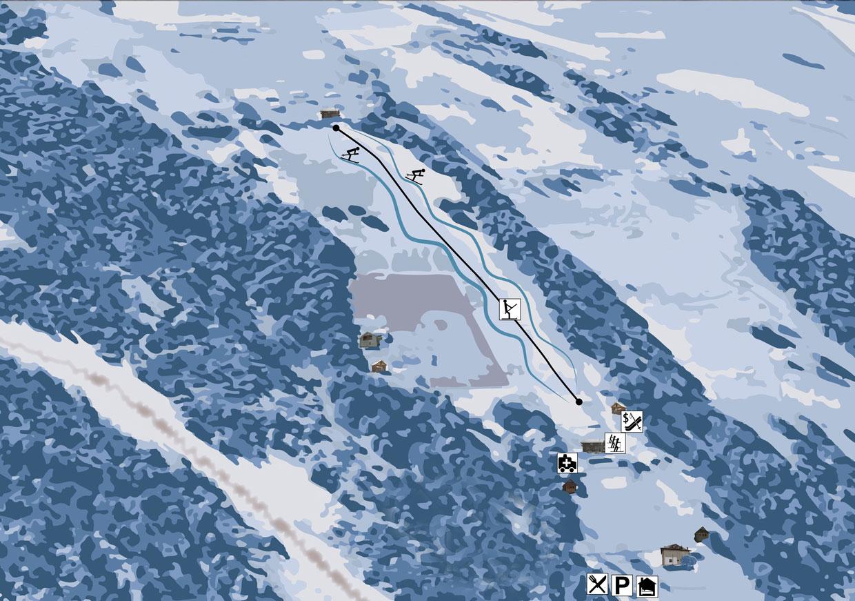 Гірськолижний витяг на горі Пушкар - Верховина