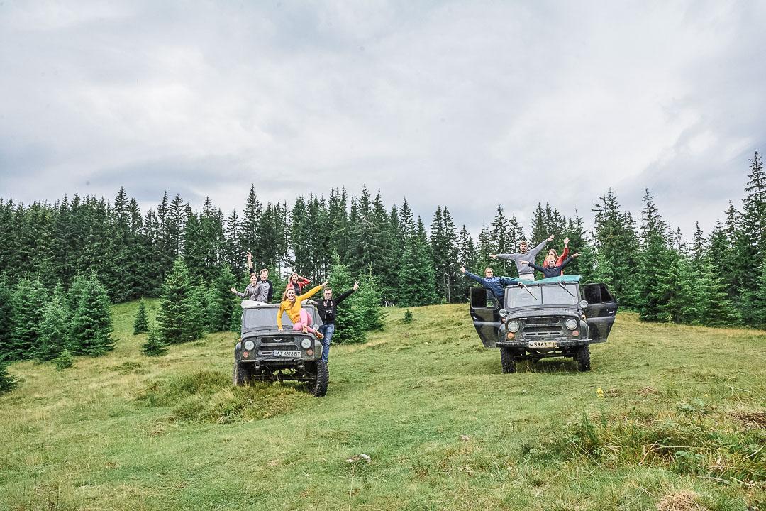 ДЖИПІНГ на машинах УАЗ горами Верховини