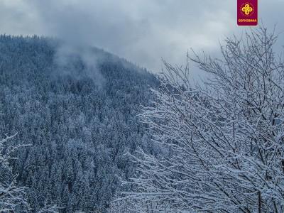 Гуцульську столицю Верховину засипало першим снігом